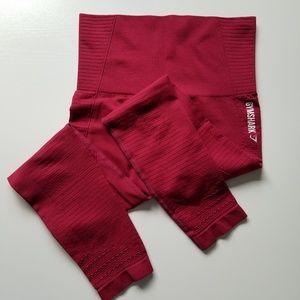 Gymshark seamless highwaist red long leggins s- S